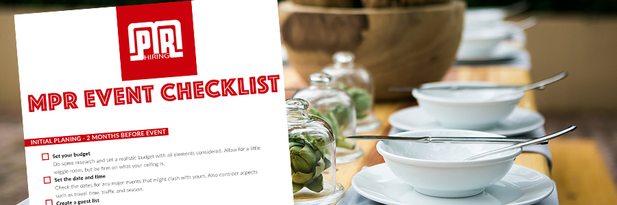 The ultimate event planning checklist - MPR Hiring